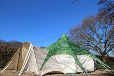 Large tent area