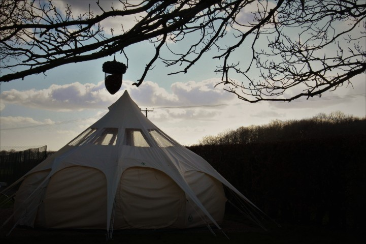 Bell Tent At Dusk